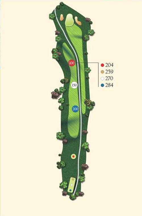 Hole 13 layout