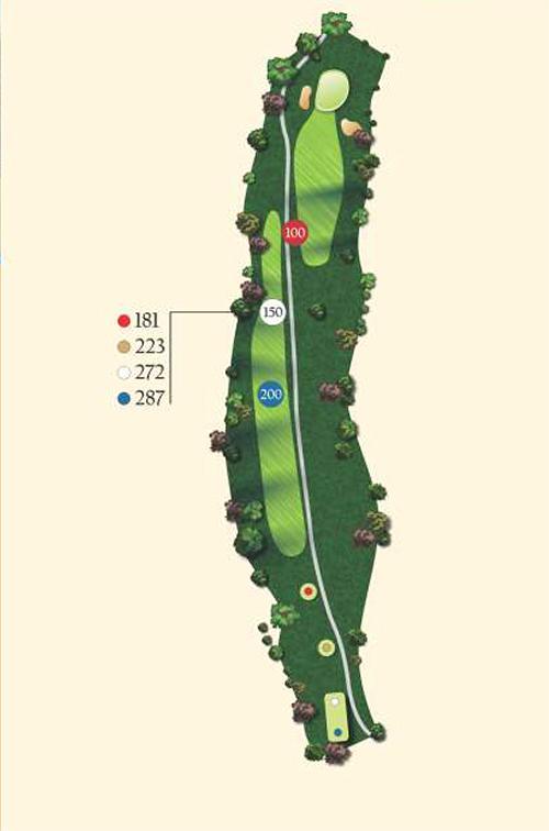 Hole 15 layout