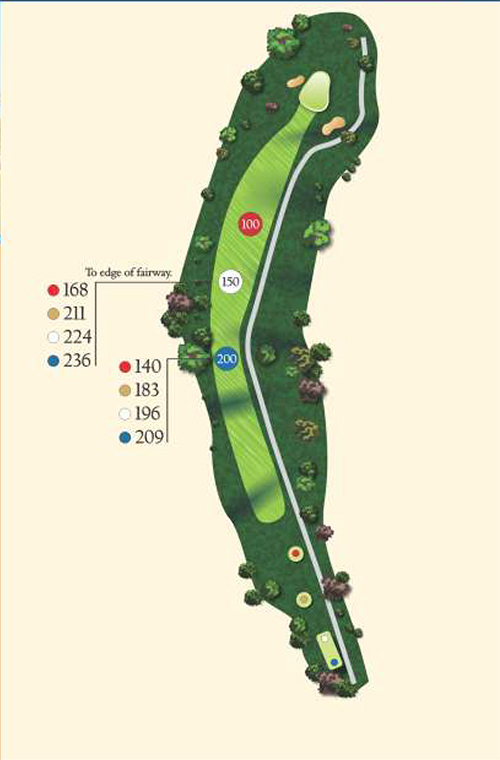 Hole 17 layout